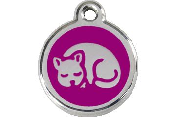 Red Dingo Enamel Tag Kitten Purple 01-KT-PU (1KTPS)