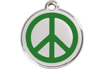 Red Dingo Enamel Tag Peace Green 01-PC-GR (1PCGS / 1PCGM / 1PCGL)