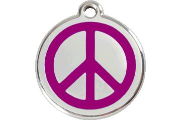 Red Dingo Enamel Tag Peace Purple 01-PC-PU (1PCPS / 1PCPM / 1PCPL)