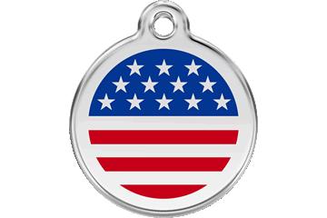 Red Dingo Enamel Tag Stars & Stripes 01-US-DB (1USNS / 1USNM / 1USNL)