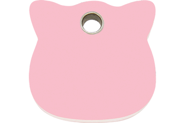 Red Dingo Plastic Tag Cat Head Pink 04-CH-PK (4CHPKS)