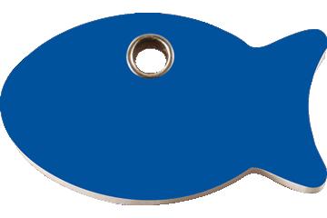 Red Dingo Plastic Tag Fish Dark Blue 04-FI-DB (4FINS)