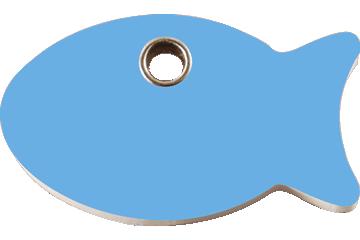 Red Dingo Plastic Tag Fish Light Blue 04-FI-LB (4FILBS)