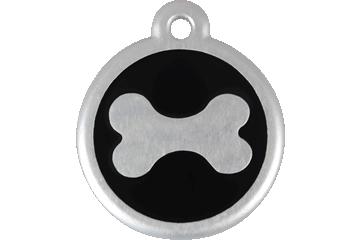 Red Dingo QR Tag Bone Black 06-BN-BB (6BNBS / 6BNBL)