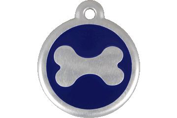 Red Dingo QR Tag Bone Dark Blue 06-BN-DB (6BNNS / 6BNNL)