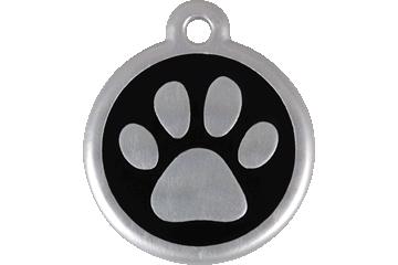 Red Dingo QR Tag Paw Prints Black 06-PP-BB (6PPBS / 6PPBL)