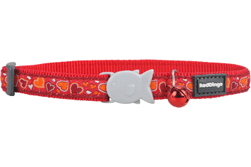 Red Dingo Cat Collar Breezy Love Red CC-BZ-RE