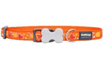 Red Dingo Dog Collar Breezy Love Orange DC-BZ-OR
