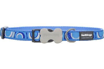 Red Dingo Dog Collar Circadelic Medium Blue DC-CI-MB