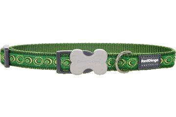 Red Dingo Dog Collar Cosmos Green DC-CO-GR