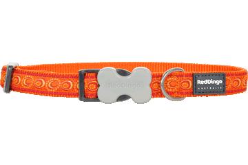 Red Dingo Dog Collar Cosmos Orange DC-CO-OR
