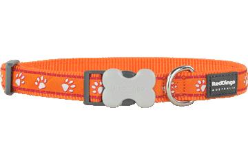 Red Dingo Dog Collar Desert Paws Orange DC-DP-OR