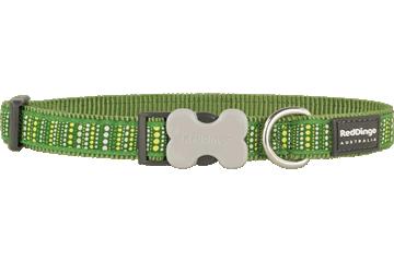 Red Dingo Dog Collar Lotzadotz Green DC-LD-GR