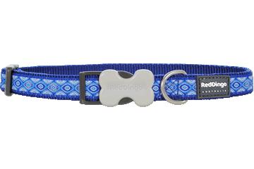 Red Dingo Dog Collar Snake Eyes Dark Blue DC-SE-DB