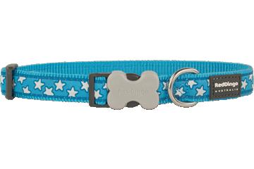 Red Dingo Dog Collar Stars Turquoise DC-ST-TQ
