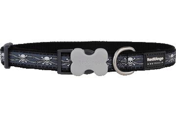 Red Dingo Dog Collar Skull & Wire Black DC-SW-BB